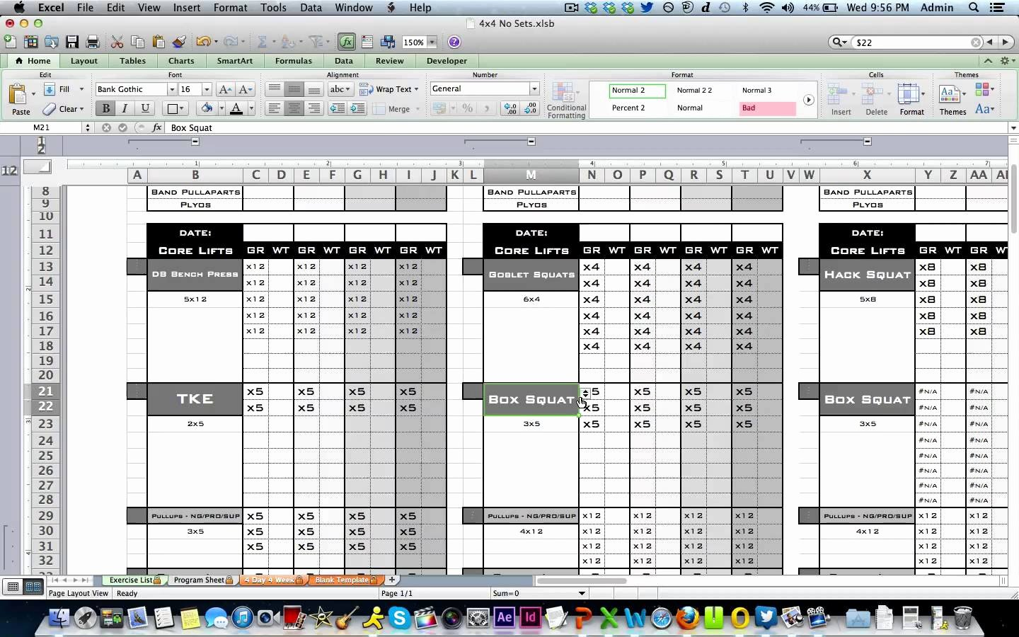 Personal Training Programs Template Luxury Workout Template Excel