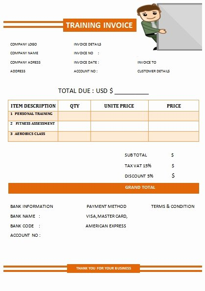 Personal Training Programs Template New 30 Personal Training Invoice Templates for Professionals
