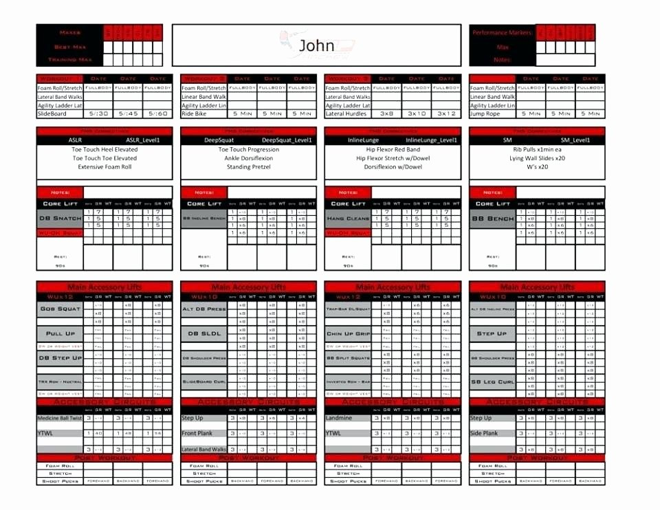 Personal Training Workout Template Best Of Personal Trainer Workout Template