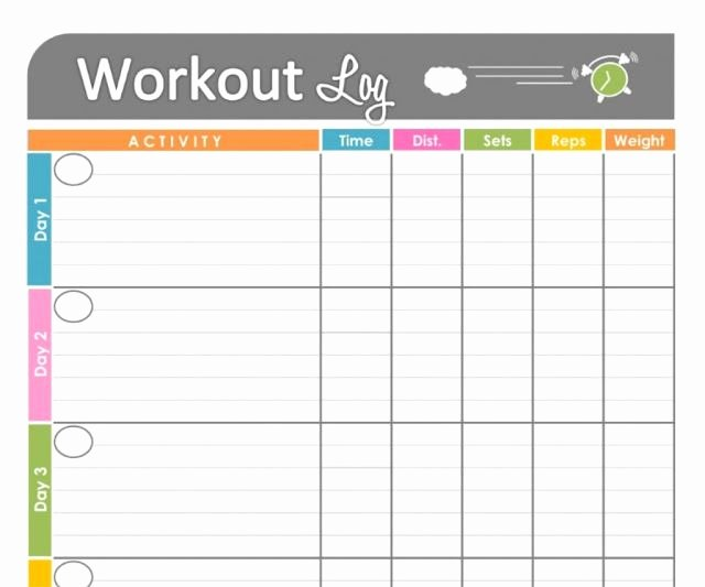 Personal Training Workout Template Fresh Personal Training Workout Log Template