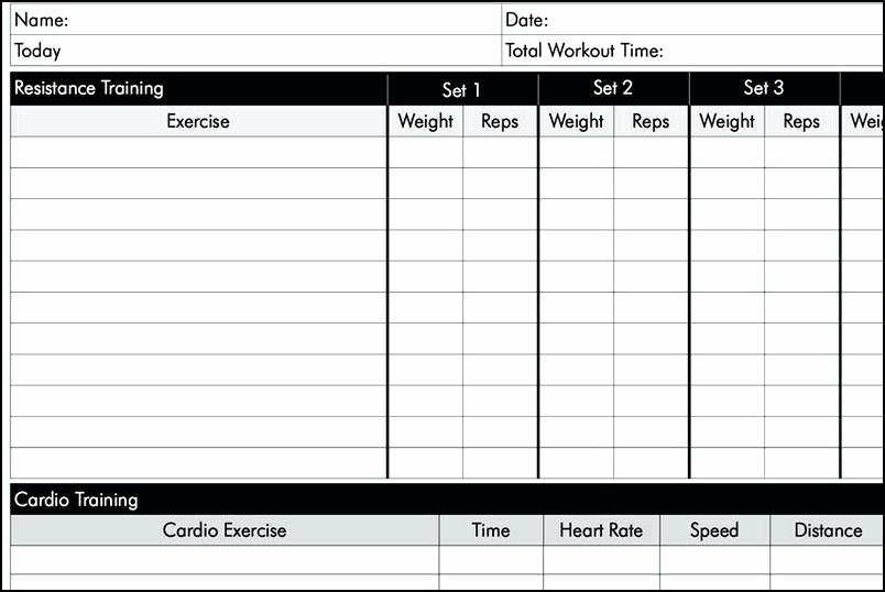 Personal Training Workout Template Inspirational Personal Training Tracking Sheet Workout Log Excel