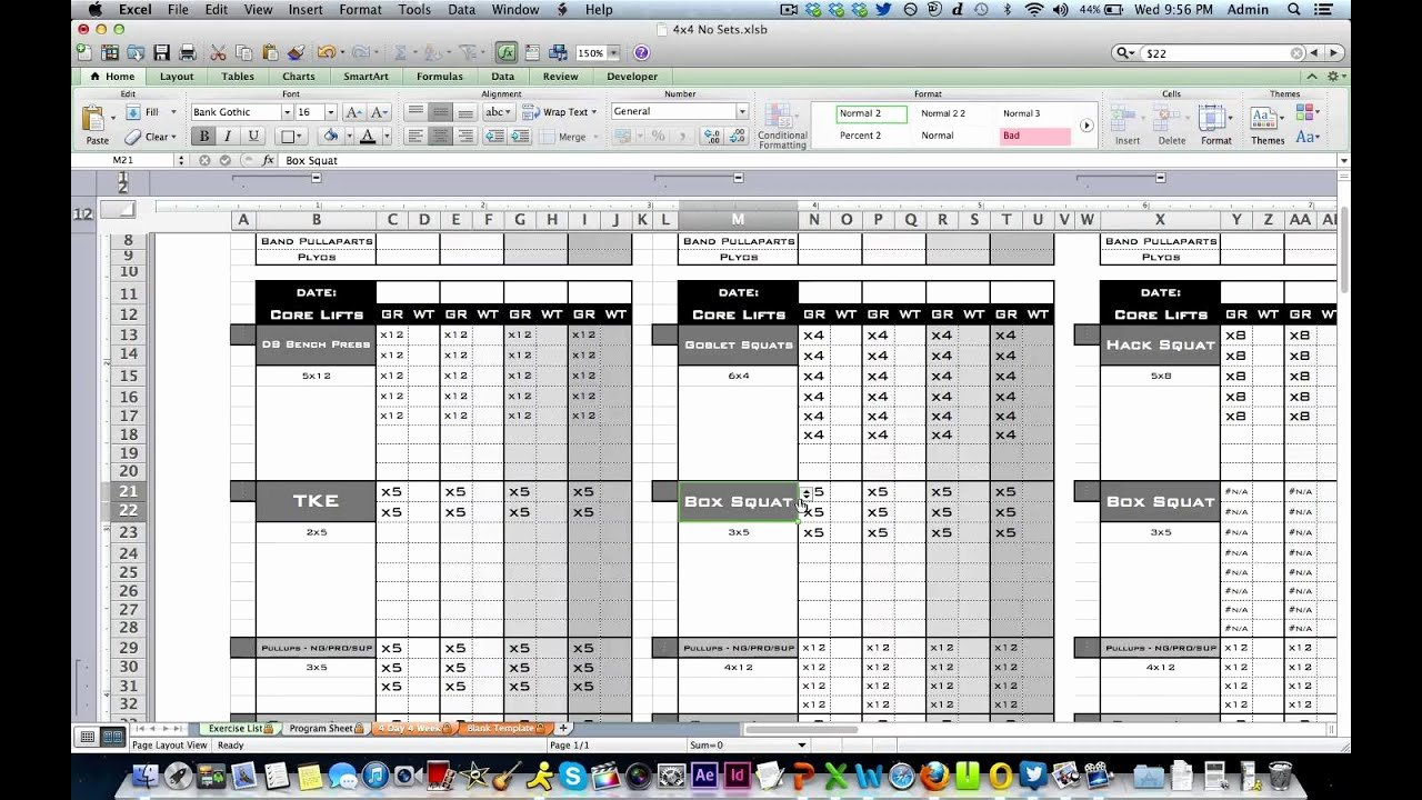 Personal Training Workout Template Lovely Personal Training Workout Log From Excel Training Designs