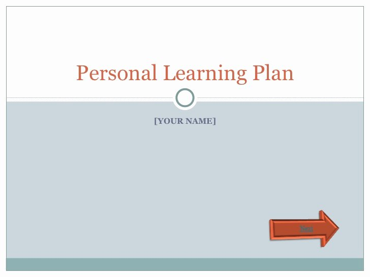 Personalised Learning Plans Template Fresh Personal Learning Plan Template