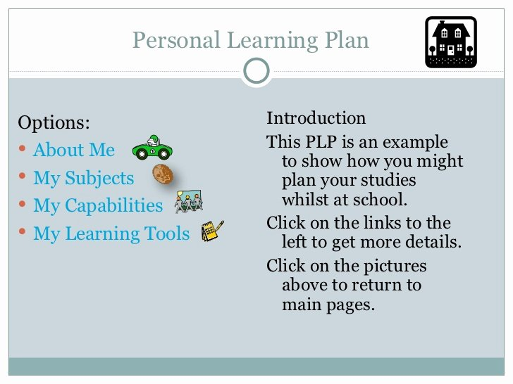 Personalised Learning Plans Template Inspirational Personal Learning Plan Template