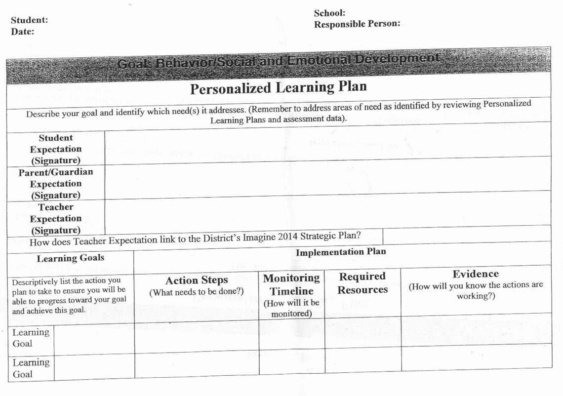 Personalised Learning Plans Template Luxury 26 Of Tutoring Plan Template