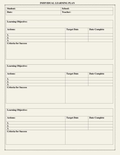 Personalised Learning Plans Template New Liczba Pomysłów Na Temat Lernplan Vorlage Na Pintereście