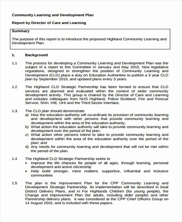 Personalized Learning Plan Template Best Of Learning Plan Templates 10 Free Samples Examples format