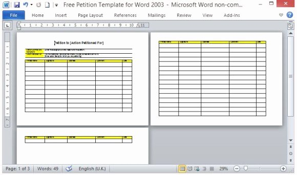 Petition Template Microsoft Word Best Of Free Petition Template for Word