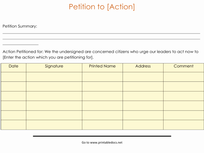 Petition Template Microsoft Word Fresh 15 Professional Petition Template and Samples