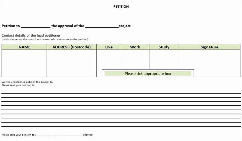 Petition Template Microsoft Word Fresh 6 Petition Templates Word Excel Pdf formats