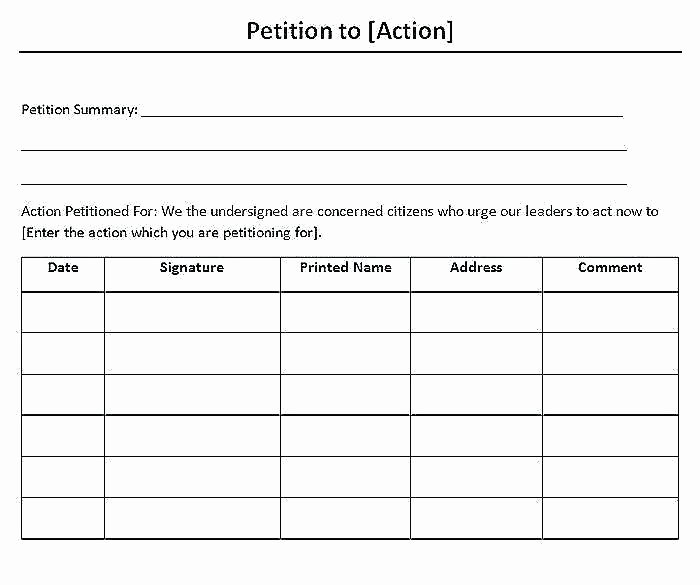 Petition Template Microsoft Word Inspirational Word Petition Template – Ecosolidario