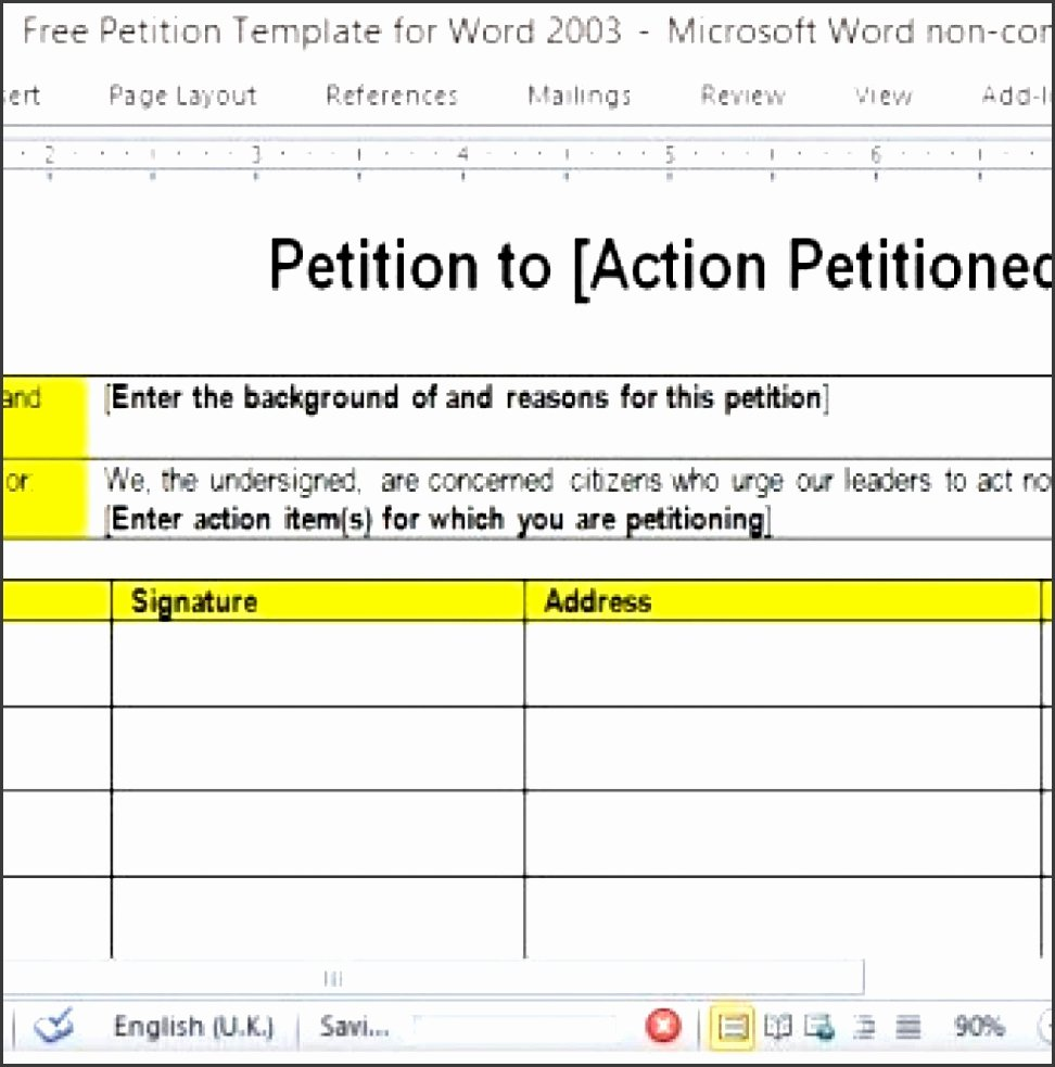 Petition Template Microsoft Word Lovely 11 Petition Template In Word Sampletemplatess