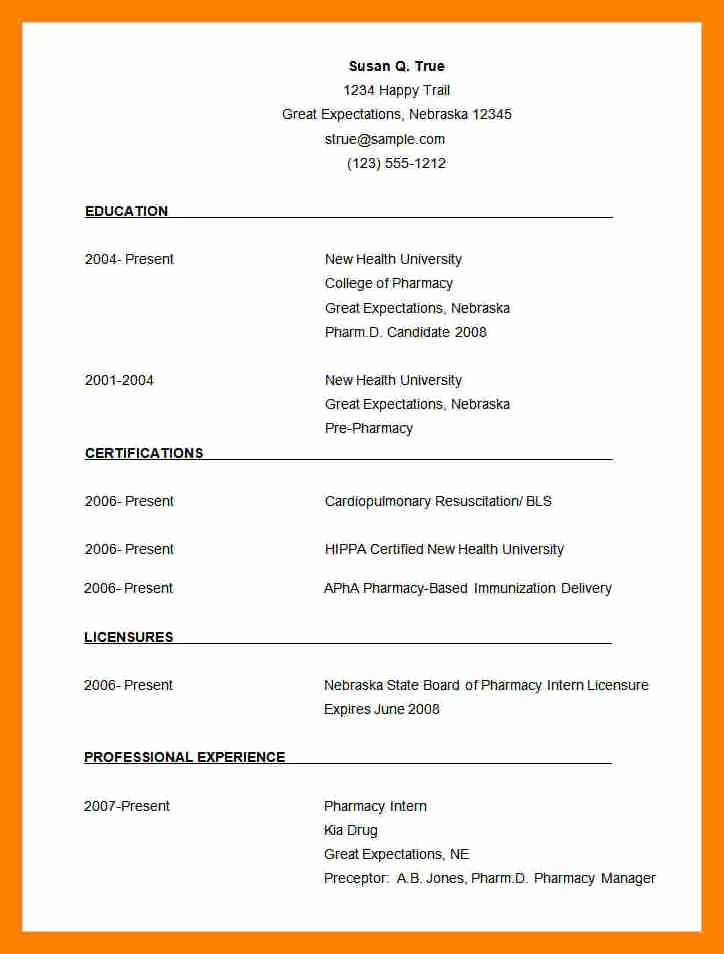 6 pharmacy cv template