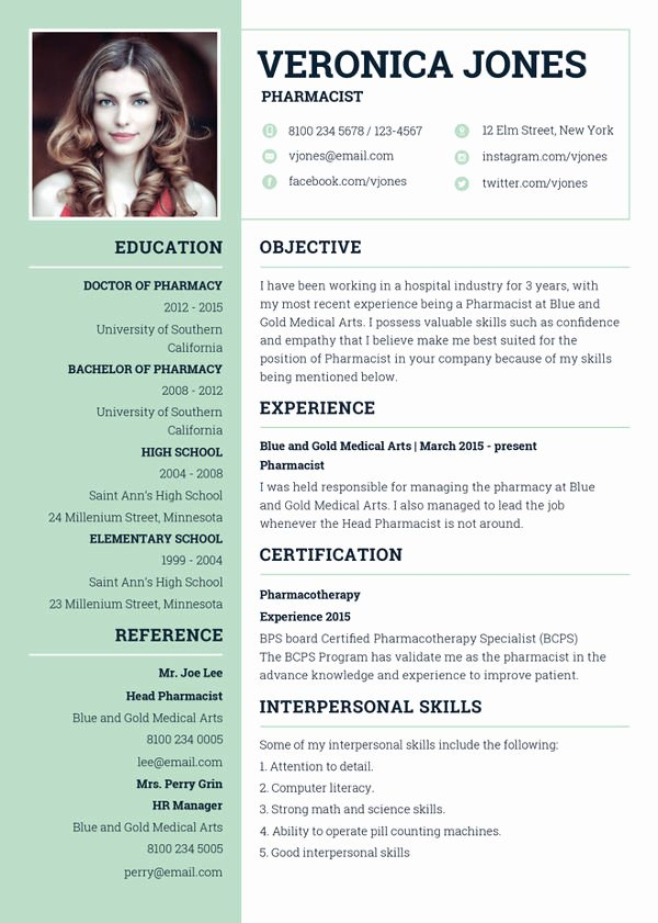 Pharmacy Curriculum Vitae Template Awesome 7 Pharmacist Curriculum Vitae Templates Free Word Pdf