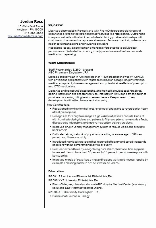 Pharmacy Curriculum Vitae Template Best Of Pharmacist Template Inspirational Services Rich Public