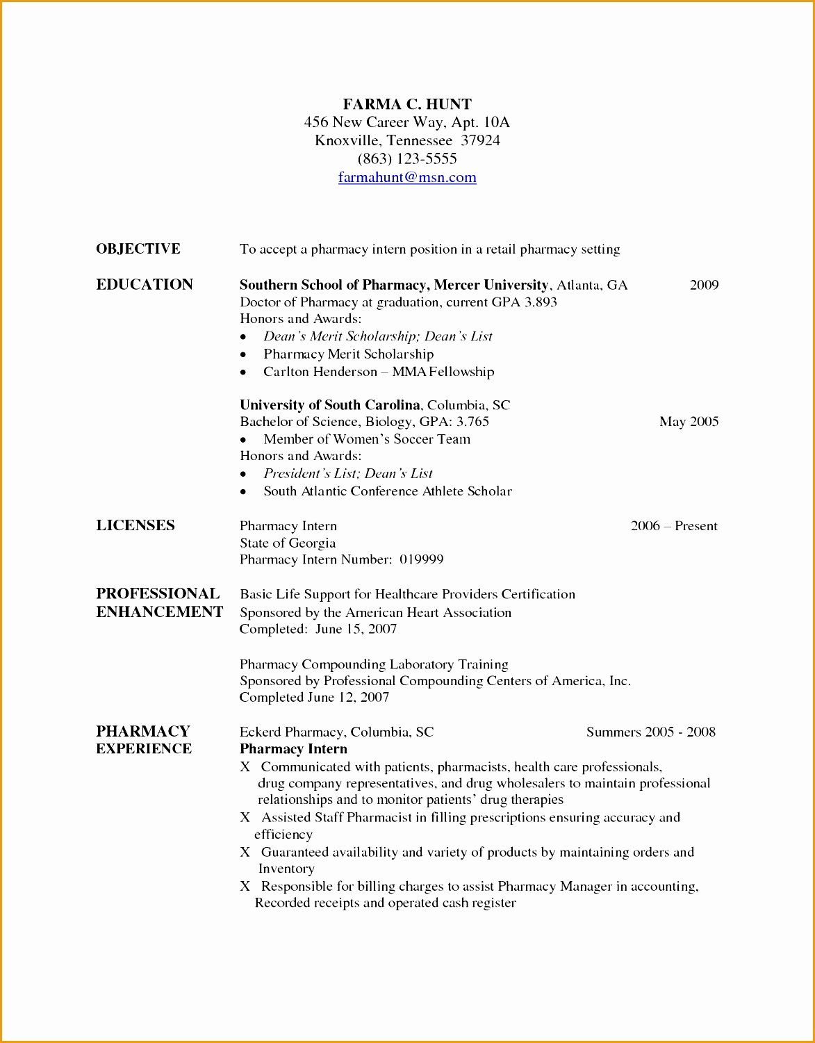 Pharmacy Curriculum Vitae Template Unique 7 Pharmacist Curriculum Vitae Templates Free Samples