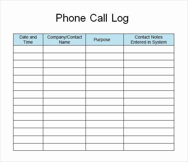 Phone Call Log Template Beautiful Phone Call List Template Google Search