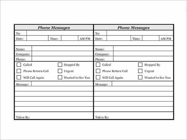 Phone Call Log Template Fresh 10 Phone Log Templates Word Excel Pdf formats