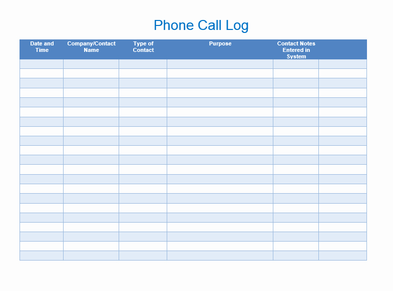 Phone Call Log Template Luxury Sales Call List Templates 5 Free Templates Word Templates