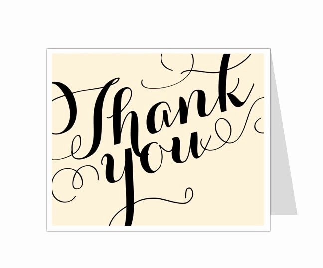 Photo Thank You Card Template Awesome 12 Best Thank You Card Templates Images On Pinterest