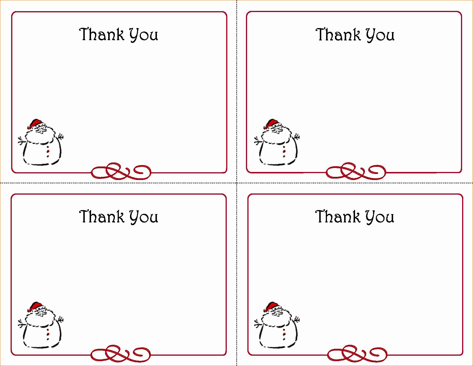 Photo Thank You Card Template Beautiful 5 Free Thank You Card Template