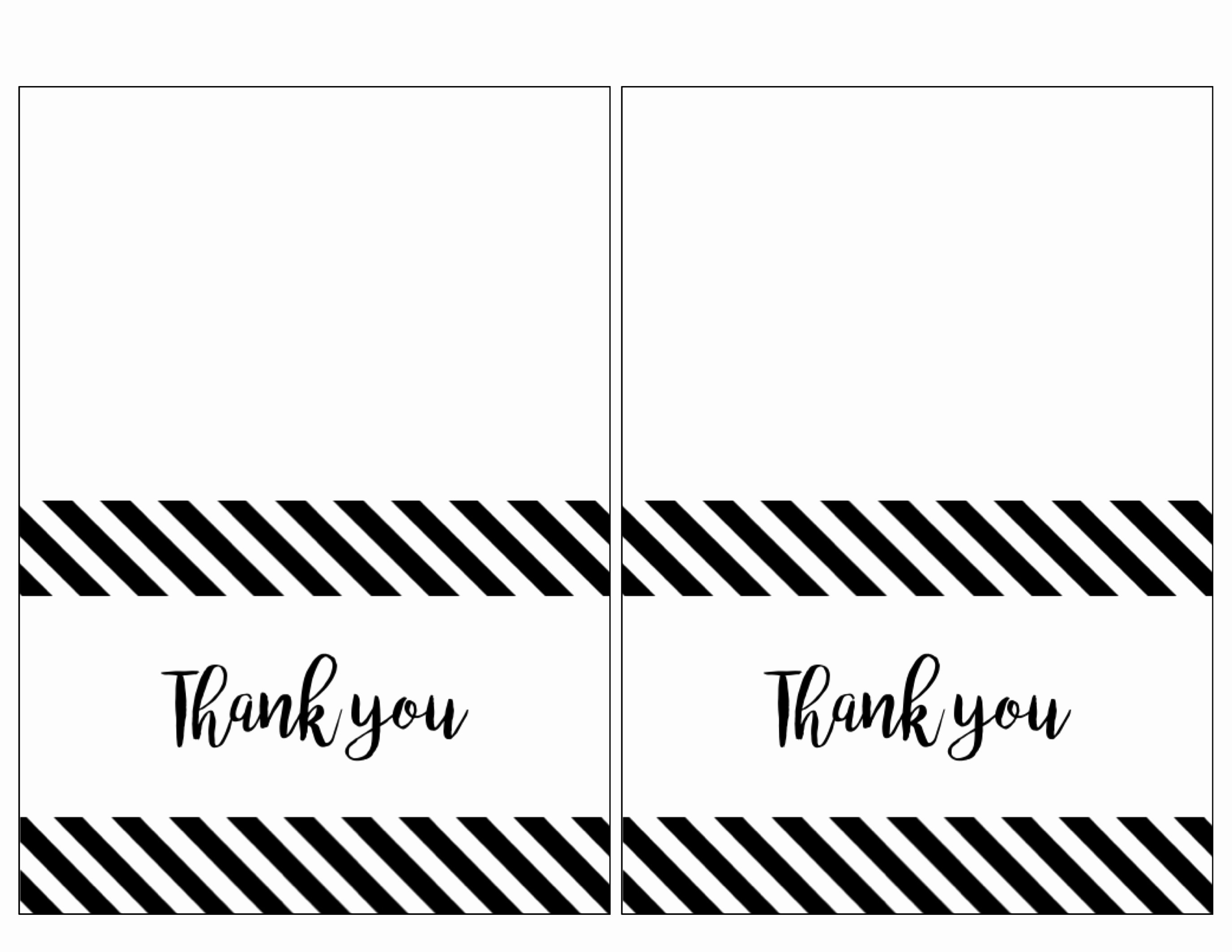 Photo Thank You Card Template Beautiful Free Thank You Cards Print Free Printable Black and White