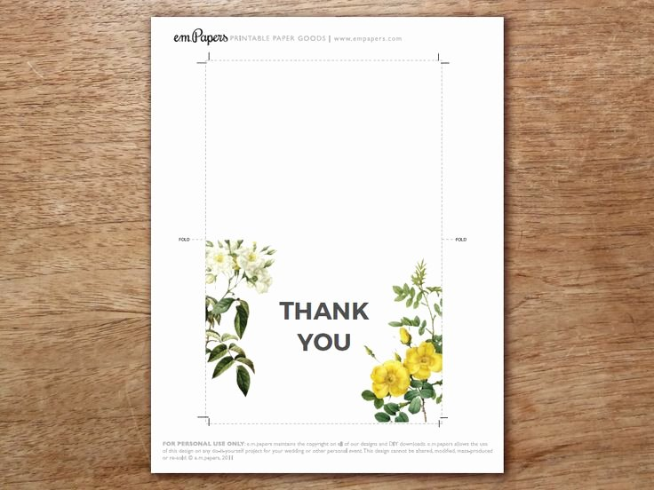 Photo Thank You Card Template Elegant Best 25 Thank You Card Template Ideas On Pinterest