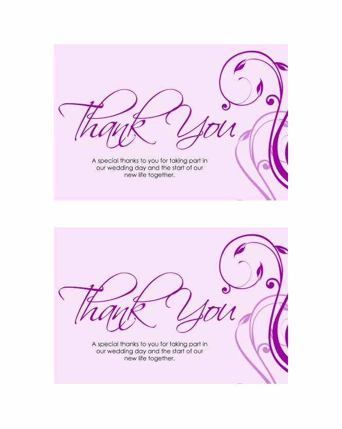 Photo Thank You Card Template Inspirational 30 Free Printable Thank You Card Templates Wedding