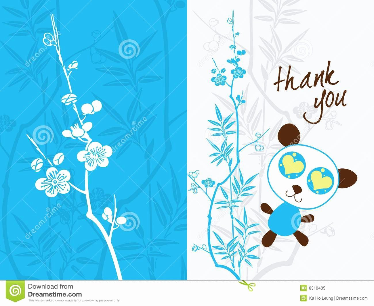 Photo Thank You Card Template Inspirational Thank You Card Template Stock Vector Illustration Of