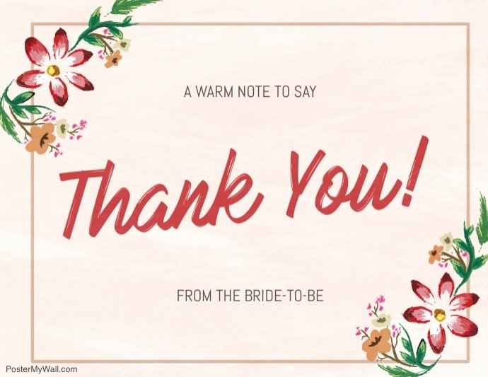 Photo Thank You Card Template Lovely Copy Of Floral Thank You Card Template