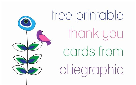 Photo Thank You Card Template Luxury 9 Printable Thank You Card Templates Free Sample