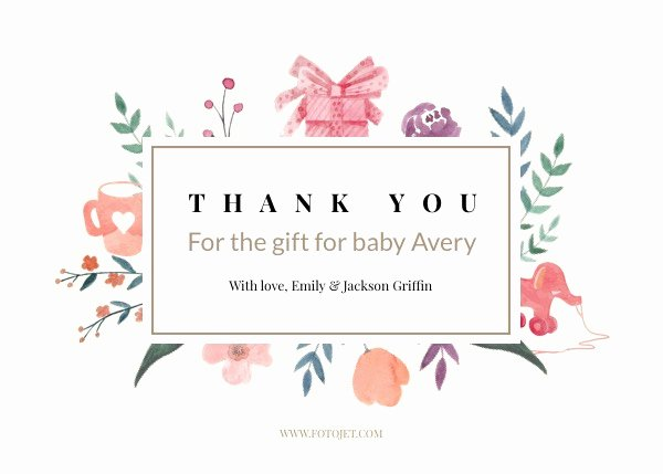 Photo Thank You Card Template New 15 Thank You Template