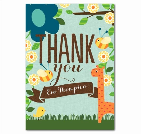 Photo Thank You Card Template New 21 Birthday Thank You Cards – Free Printable Psd Eps