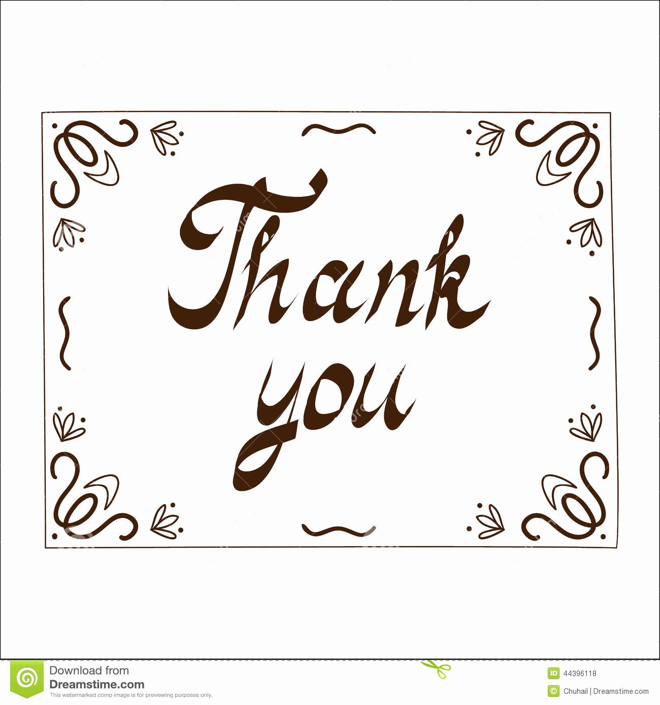 Photo Thank You Card Template Unique Thank You Card Template Stock Vector Illustration Of Give