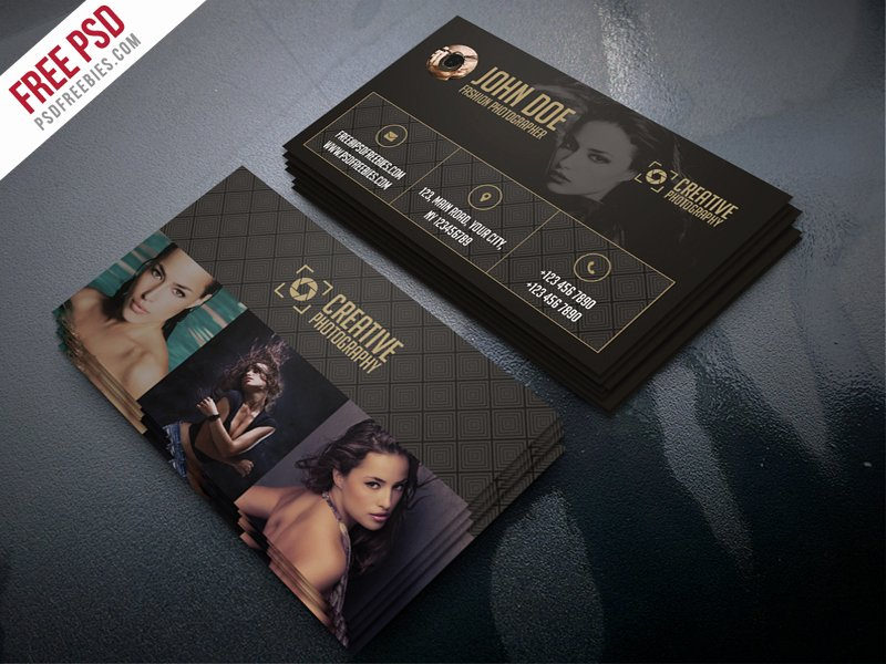 Photographer Business Card Template Inspirational Freebie Fashion Grapher Business Card Template Psd