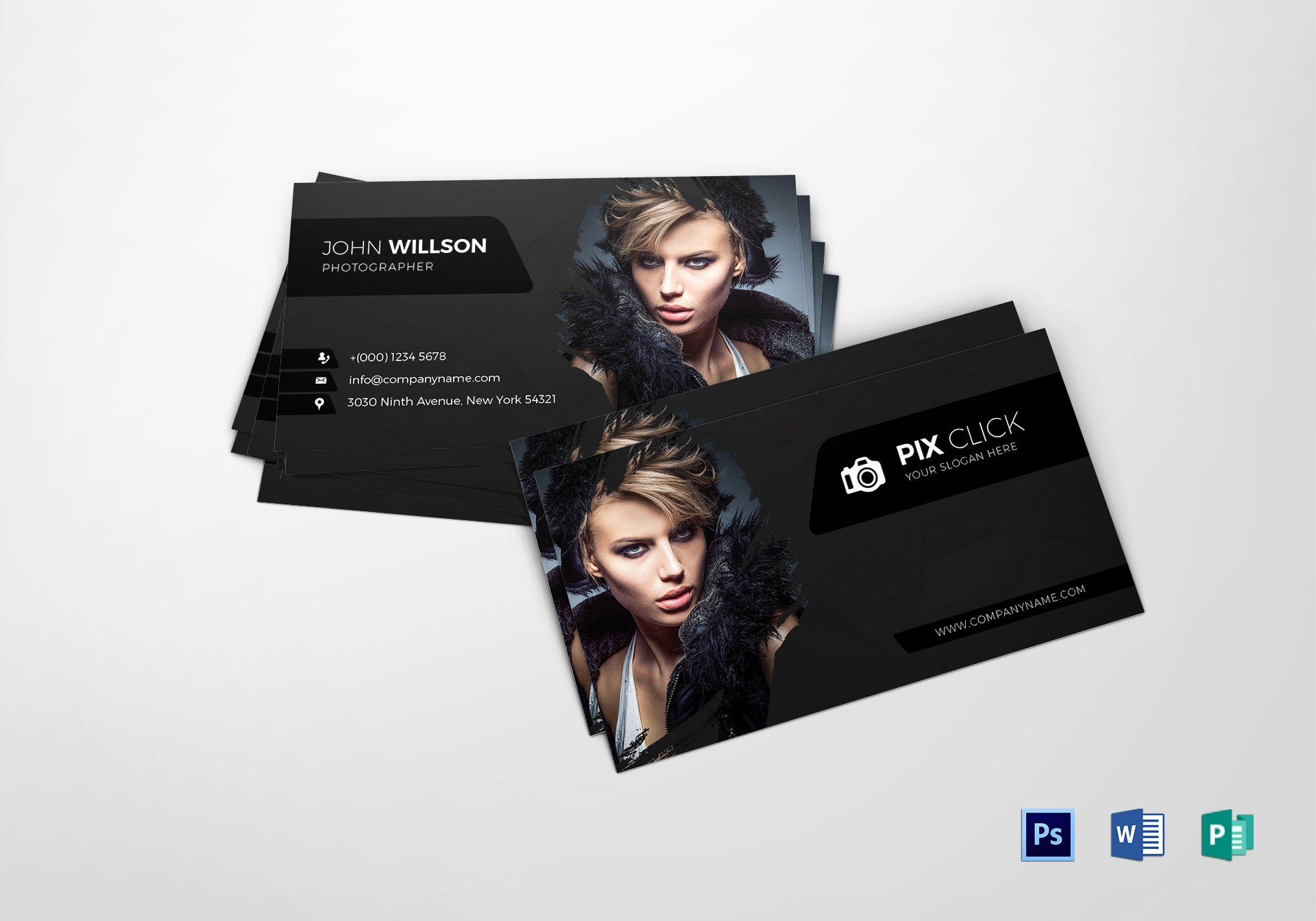 Photographer Business Card Template Inspirational Grapher Business Card Design Template In Psd Word