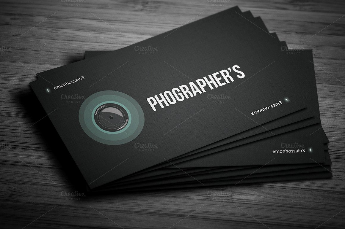 Photographer Business Card Template Luxury Grapher Creative Business Card Card Templates On