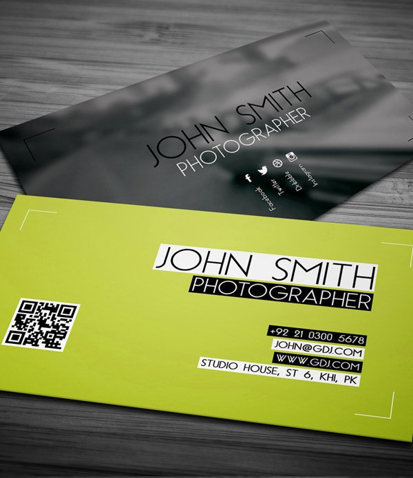Photographer Business Card Template New Free Business Cards Psd Templates Print Ready Design