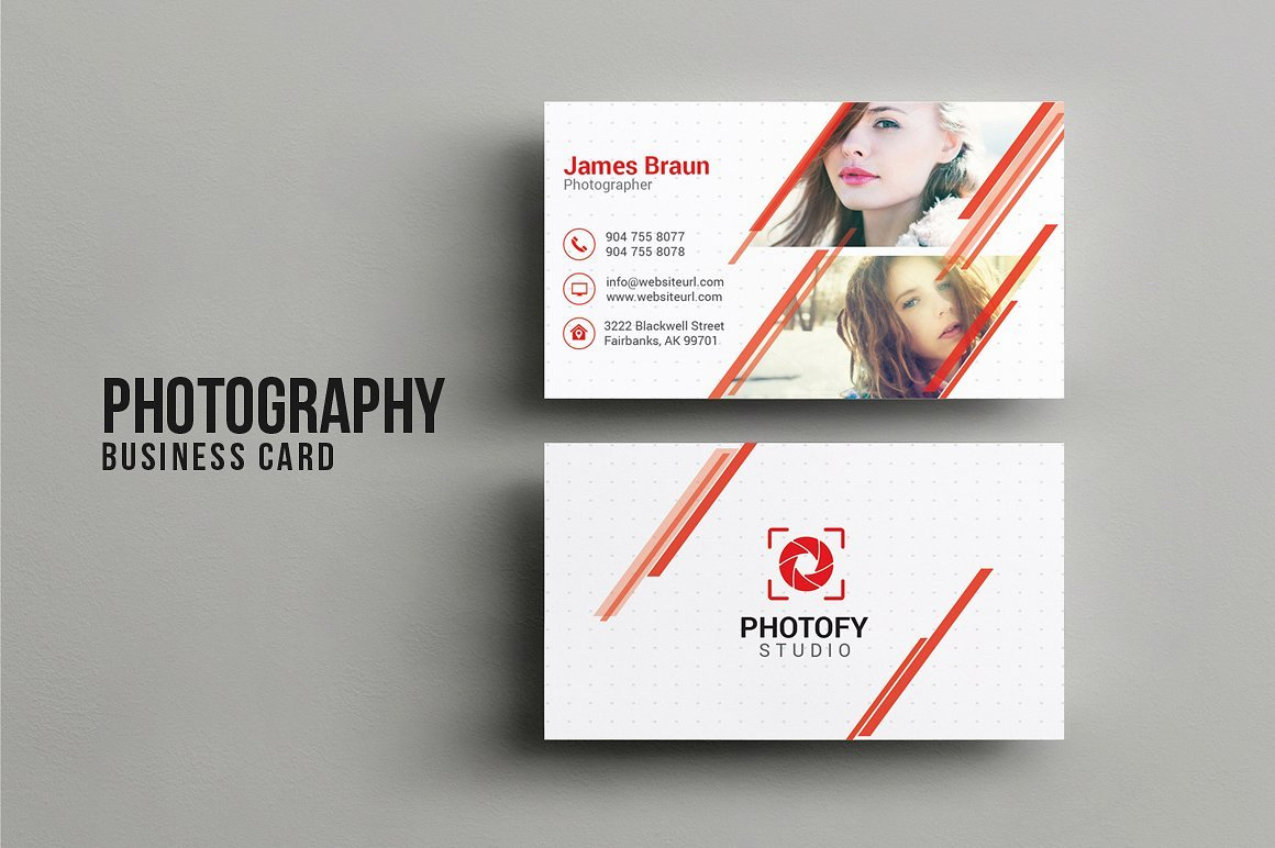 Photographer Business Card Template New Graphy Business Card Business Card Templates