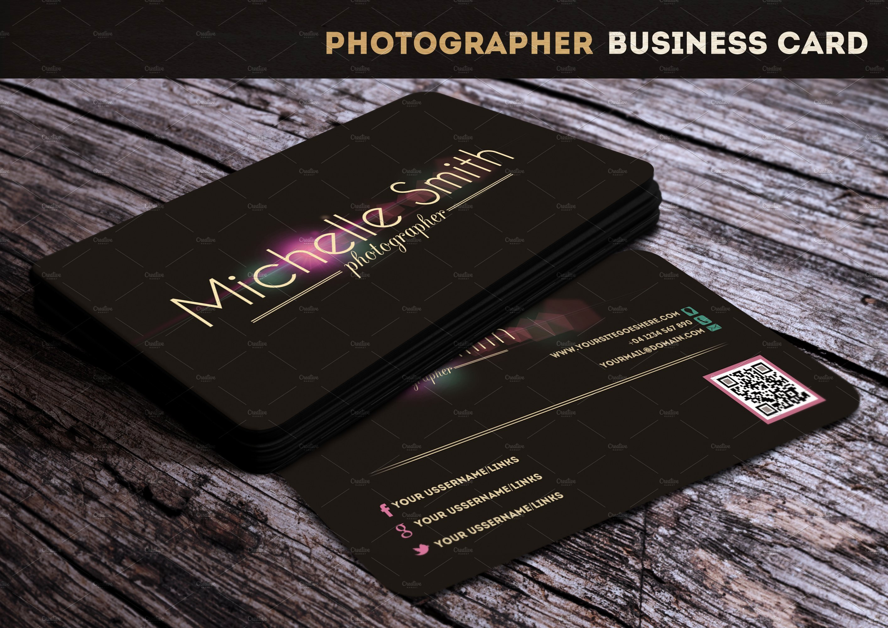 Photographer Business Card Template Unique Grapher Business Card Business Card Templates