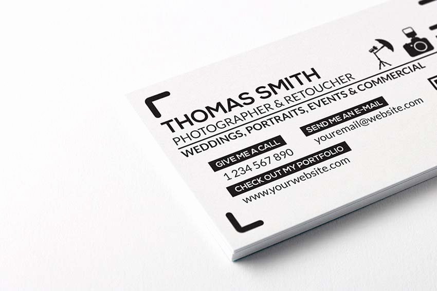 Photography Business Card Template Beautiful 20 Free Printable Templates for Business Cards