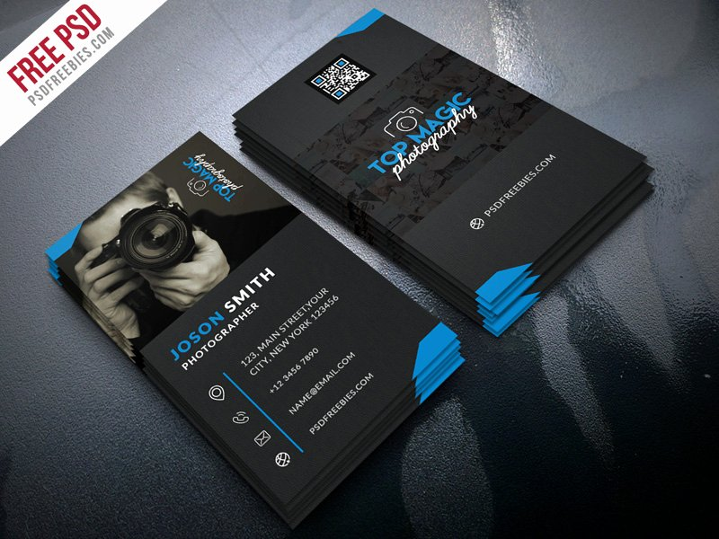 Photography Business Card Template New Grapher Business Card Psd Bundle
