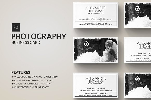 Photography Business Card Template New Graphy Business Card Business Card Templates