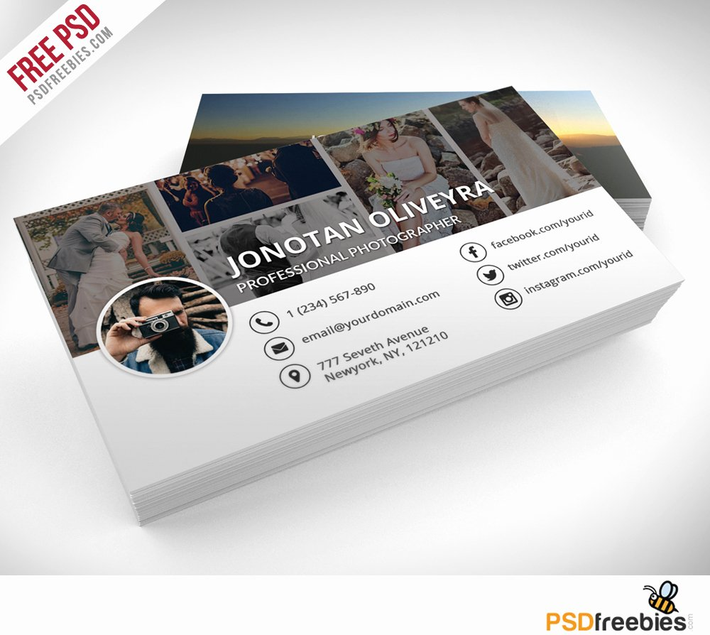 Photography Business Card Template New Professional Grapher Business Card Psd Template
