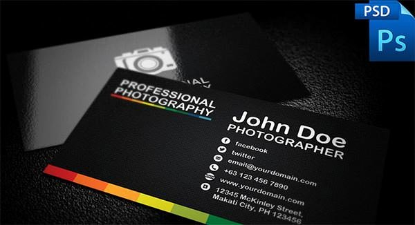 Photography Business Card Template Unique 76 Best Psd Business Card Templates