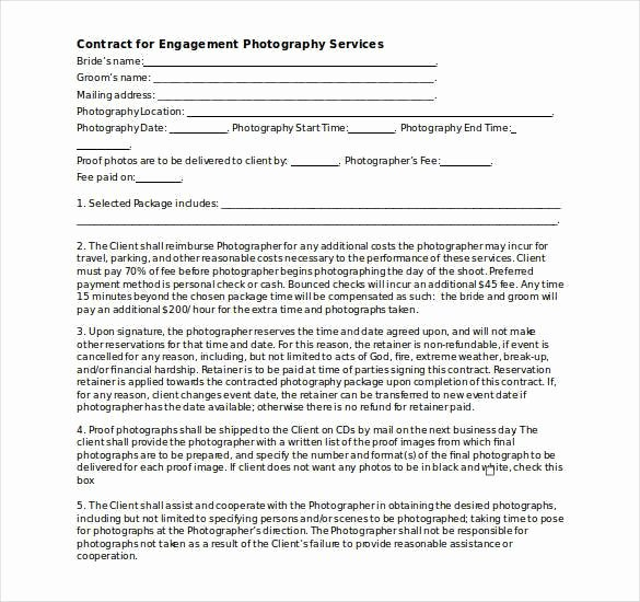 Photography Contract Template Free Awesome Graphy Contract Template – 20 Free Word Pdf