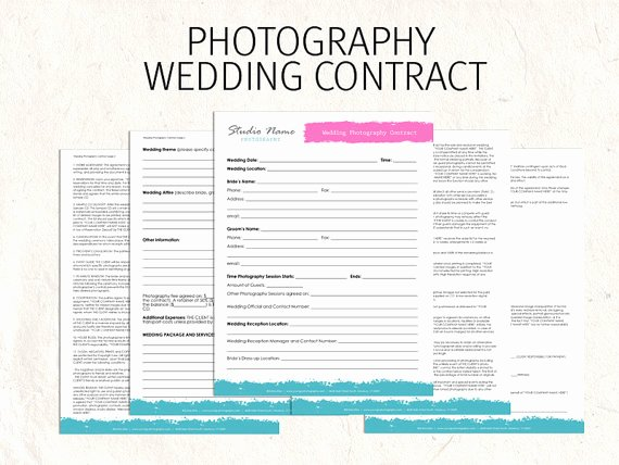 Photography Contract Template Free Best Of Free Printable Wedding Graphy Contract Template form