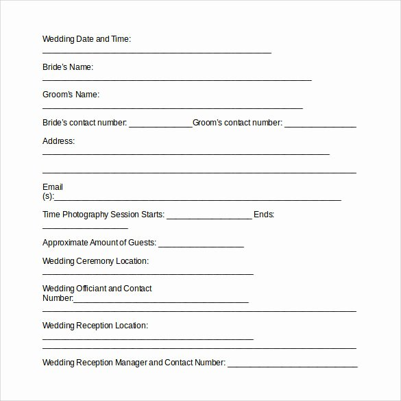 Photography Contract Template Free Elegant 14 Wedding Graphy Contract Templates to Download
