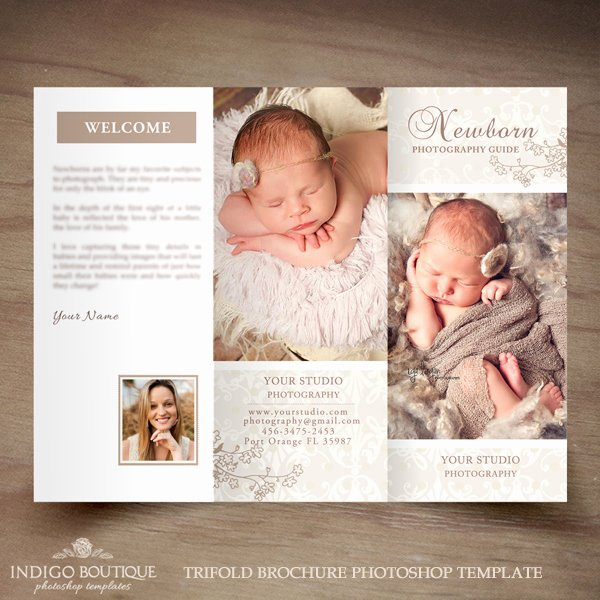 Photography Flyer Template Free Awesome Newborn Graphy Trifold Brochure Template Client