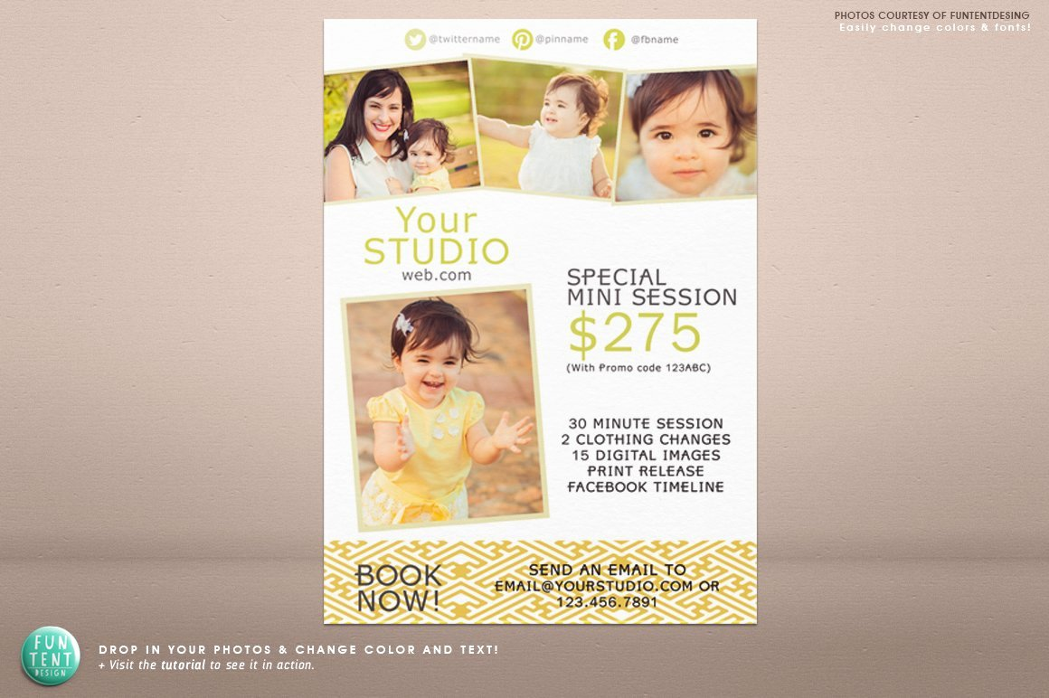 Photography Flyer Template Free Beautiful 5x7 Mini Session Marketing Flyer Flyer Templates